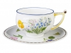 Imperial Lomonosov Porcelain Tea Set Cup and Saucer Kostroma Forget Me Not 10 oz/300 ml