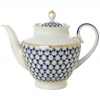 Lomonosov Porcelain Tea Pot Spring Cobalt Net 4 Cups 27 oz/800 ml
