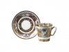 Lomonosov Imperial Porcelain Bone China Cup and Saucer Landscape 2.71 fl.oz/80 ml