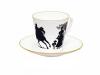 Lomonosov Imperial Porcelain Bone China Cup and Saucer Rider 2.71 fl.oz/80 ml