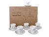 Lomonosov Porcelain Bone China Black Coffee 6 Espresso Cups Set Little Prince 2.7 oz/80ml