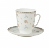 Lomonosov Bone China Cup and Saucer May Flower Waltz 5.6 fl.oz/165 ml 2 pc