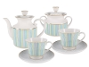 Lomonosov Porcelain Tea Set Dublin 14 items for 6 persons