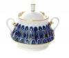 Lomonosov Imperial Porcelaine Sugar Bowl Forget Me Not 10 oz/300 ml