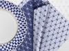 """Lomonosov Gift Set 6 Napkins Cobalt Net 17.7""""x17.7"""" Blue-Gray"""