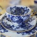 Lomonosov Imperial Russian Porcelain Singing Garden Tea Set  3pcs
