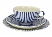 Russian Porcelain Frenchman  Tea Set 3pcs