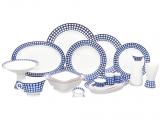 Lomonosov 24-piece Cobalt Cell Dining Set for 6
