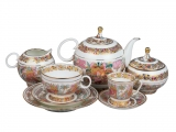 Lomonosov Porcelain Tea Set Landscape Frieze for 6/20