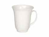 Bone China Porcelain Mug High White 16.9 fl.oz/500 ml