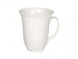 Bone China Porcelain Mug High White 16.9 fl.oz/500 ml