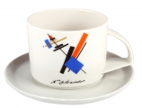 "Imperial Porcelain Tea cup and saucer ""Malevich"""