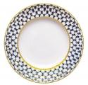 "Imperial Porcelain Flat Plate Smooth Cobalt Net 10.6""/270 mm"