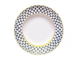 "Lomonosov Soup Plate Cobalt Net 8.7""/220mm"