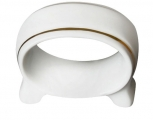 Lomonosov Imperial Porcelain Napkin Ring Youth Golden Ribbon