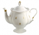 "Lomonosov Imperial Porcelain Bone China Teapot ""Eyelets"""