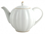Lomonosov Imperial Porcelain Teapot Tulip Snow White 20 oz/600 ml
