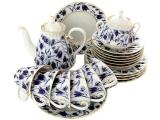 Lomonosov Imperial Porcelaine Blue Bells Tea Set 6/21