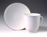 white bone china cup and saucer