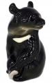 Asian Bear Black Lomonosov Imperial Porcelain Figurine