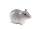 Baby Mouse Gray Lomonosov Porcelain Figurine