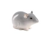 Baby Mouse Gray Lomonosov Porcelain Figurine