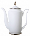 Lomonosov Imperial Porcelain Bone China Porcelain Coffee Pot Julia Golden Ribbon 23.3 fl.oz/690 ml