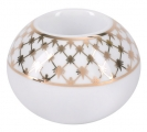 Lomonosov Porcelain Round Candle Holder Jazz Golden Net