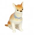 Chihuahua Dog Sitting Lomonosov Imperial Porcelain Figurine