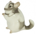 Chinchilla Standing Grey Lomonosov Imperial Porcelain Figurine