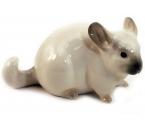 Chinchilla Small Grey Lomonosov Imperial Porcelain Figurine