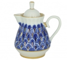 Lomonosov Imperial Porcelain Creamer Milk Jar Forget Me Not 7.4 oz/220 ml