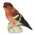 Crossbill Bird Lomonosov Imperial Porcelain Figurine