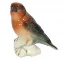 Crossbill Bird Red Lomonosov Imperial Porcelain Figurine