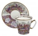 Lomonosov Imperial Porcelain Cup and Saucer Bone China Palaces 2.71 fl.oz/80 ml