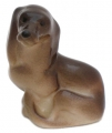 Dachshund Little Dog Sitting Lomonosov Porcelain Figurine