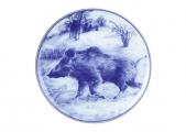 Decorative Wall Plate 2019 Year of PIG Wild Boar (2) 7.7 inches 195 mm