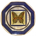 "Decorative Wall Plate 9.4""/240 mm Butterfly #10 Lomonosov Imperial Porcelain"