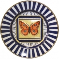 "Decorative Wall Plate 9.4""/240 mm Butterfly #12 Lomonosov Imperial Porcelain"