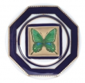 "Decorative Wall Plate 9.4""/240 mm Butterfly #5 Lomonosov Imperial Porcelain"