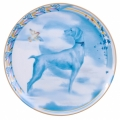 "Decorative Wall Plate 2018 Year of Dog Blue Pointer 7.7""/195 mm Lomonosov Porcelain"