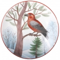 "Decorative Wall Plate Parrot Сrossbill 7.7""/195 mm Lomonosov Imperial Porcelain"