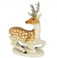 Deer with Horns Lomonosov Imperial Porcelain Figurine