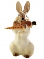 Easter Bunny Rabbit with Carrot Lomonosov Imperial Porcelain Figurine #1