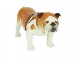 English Bulldog Lomonosov Porcelain Figurine