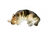 German Shepherd Dog Lomonosov Porcelain Figurine