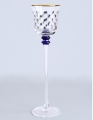 Imperial Porcelain Factory Glass Candlestick Cobalt Net