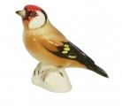 Goldfinch Bird Black-Headed Lomonosov Porcelain Figurine
