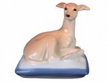 Italian Grayhound Dog on Blue Pillow Lomonosov Porcelain Figurine