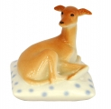 Italian Grayhound Dog on Spotted Pillow Lomonosov Porcelain Figurine